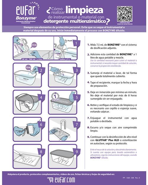 Protocolo limpieza con detergente multienzimático