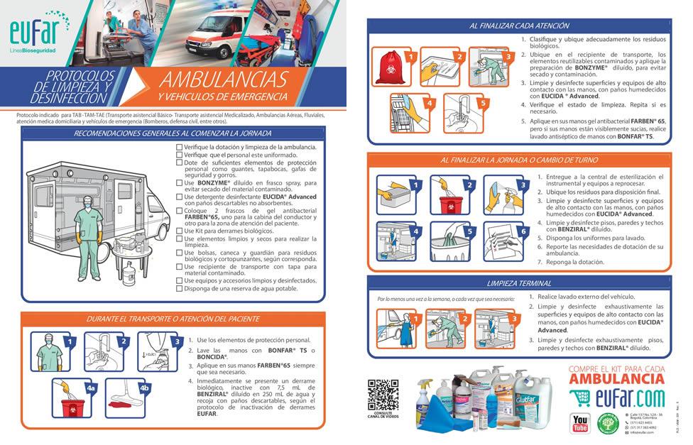 Protocolo bioseguridad de ambulancias