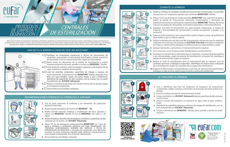 desinfección de centrales de esterilización