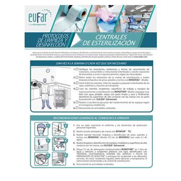 proceso de limpieza y desinfección en una central de esterilización